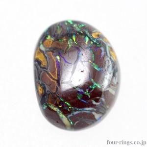 天然アイアンオパール 3.93ct☆オーストラリア・クィーンズランド州ヤワー産☆青と緑の遊色がキレイ