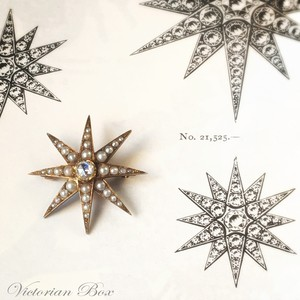 Victorian Natural Pearl Star Brooch