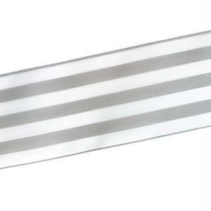 ストライプ リボン 50mm グレー×ホワイト 2m
