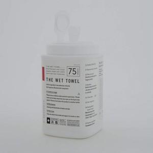 THE (ザ) THE WET TOWEL 消毒 ウェットタオル 75枚入りボトル
