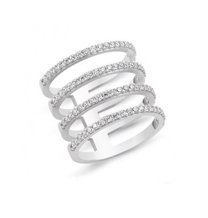 【AMORIUM】Four Lines Ring in Silver