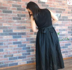二枚仕立てのWガーゼMIKOマキシスカート