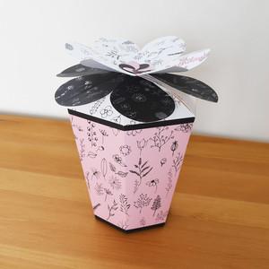 【L】誕生日祝い フラワーボックス PINKBLACK