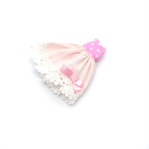 プチブライスサイズ ピンクのワンピース