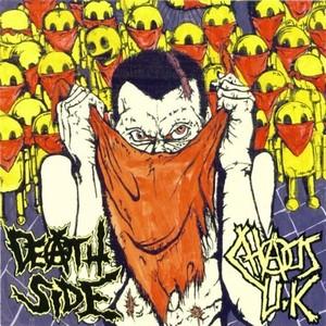 DEATH SIDE : CHAOS U.K. / SPLIT (LP) OFFICIAL