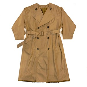 no collar wide trench coat / khaki(ladies)
