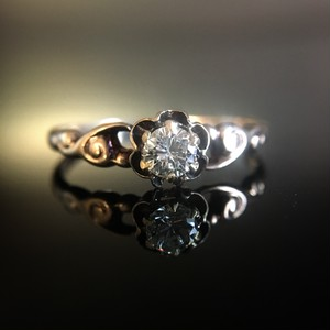 Diamond Victorian Flower Ring