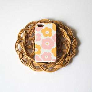【iPhone / Android 各機種専用タイプ】側表面印刷*ハード型*スマホケース「popy( baby pink × baby orange )」● 受注生産