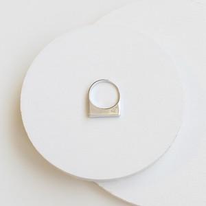 ■asymmetry ring -mirror / silver■ アシンメトリーリング ミラー シルバー