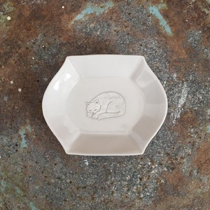 銀獣豆皿 f