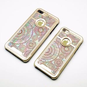 りんごが見える iPhone7/7Plusケース 天然貝ケース(オリエンタルレース・ゴールドタイプ)<螺鈿アート>【ラッピング対応】