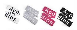 Acocぺディンロングマフラー(White,Black,Pink,Grey) 4990