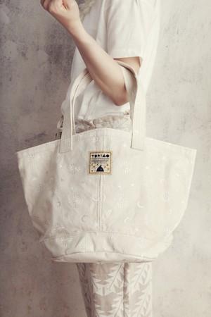 YOZORA刺繍ラメ帆布マルシェBAG Mサイズ
