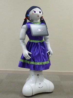 ロボット☆ファッション☆ドレス☆パープル☆Pepper向け PDR15-003