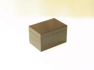 茶箱 桐材 溜塗 木製