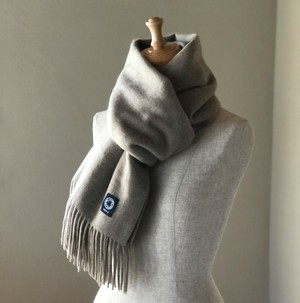 カシミヤスマフラー【 Pure cashmere  muffler  Natural Brown 】