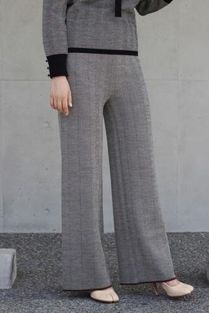 【leur loggete】wool herring bone pants