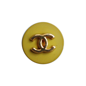 【VINTAGE CHANEL BUTTON】マスタード ゴールド ココマーク ボタン 1.4cm C-19122