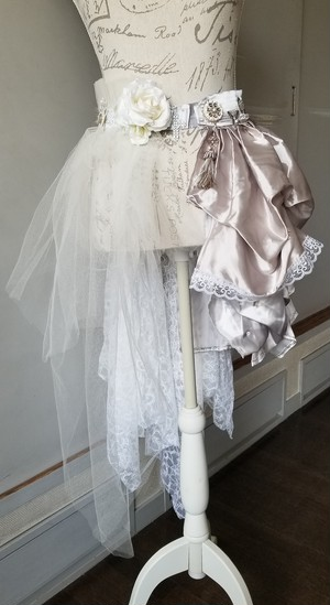 Sale!fantasy white belt skirt