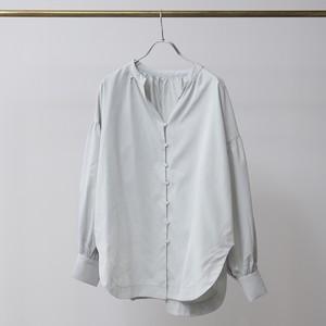 ソフトピーチ裾ラウンドギャザーシャツ FLH21020