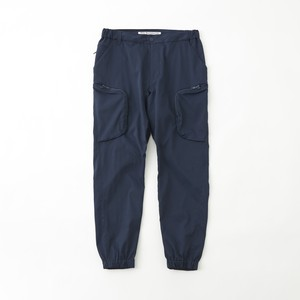 TWILLED STRETCHED JOGGER PANTS - NAVY