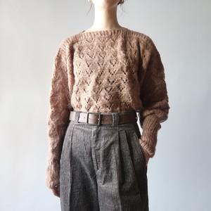 Boat-neck knit pullover