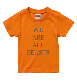 """We Are All Beasts"" KIDS T-Shirt / Orange × Gray"
