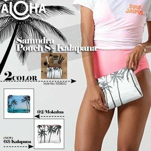 5058022 アロハコレクション SAMUDRA Pouch S 化粧ポーチ コスメポーチ 人気 ブランド プレゼント 青 白 黒 レディース 女性 Aloha Collection