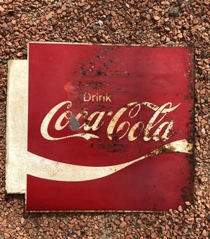 "METAL SIGN ""COCA-COLA"" BOHH SIDES TIPE②/コカコーラ  coke サインプレート 看板 両面  70s ヴィンテージ vintage"