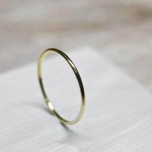 真鍮プレーンリング 1.0mm幅 鏡面 3号~27号|WKS PLANE RING 1.0 bs mirror|FA-369