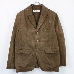 MHL. / エムエイチエル | 初期 製品染め ヴィンテージ3Bテーラードジャケット | L | ブラウン | メンズ