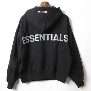 Fear Of God Essentials フィアオブゴッド エッセンシャルズ ブラック フーディ S [全国送料無料] r014595
