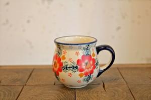 ポーランド食器 ポーリッシュポタリー マグカップS 200ml 花柄/大輪花