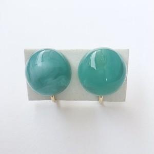 blue marble earring[e-894]