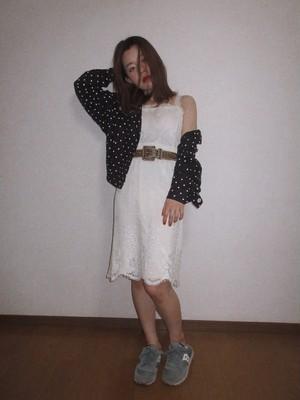 Vintage off white lace dress