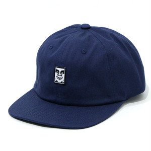 【OBEY】ICON FACE 6 PANEL STRAPBACK (NAVY)