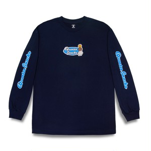 QUARTERSNACKS / MIDDLE SCHOOL LONGSLEEVE TEE -NAVY-