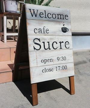 Shop看板 ウェルカムボード イベント看板 ホワイト 35cm×50cm 屋外対応