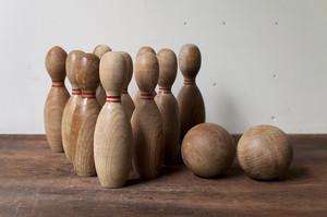 木製ボーリング セット