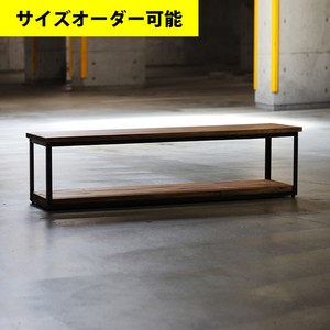 IRON FRAME LOW SHELF 140CM[BROWN COLOR]サイズオーダー可