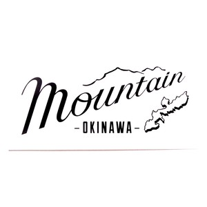 Mountain Original LOGO ステッカー / Clear X Black文字