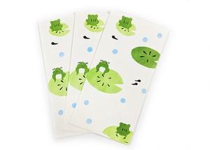 和紙封筒 カエル 3枚入り 手摺り金封 かえる