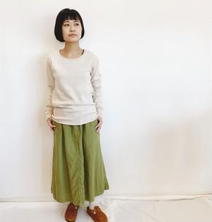 yohaku 茶綿サーマル長袖teeサイズ3(品番:T0030)