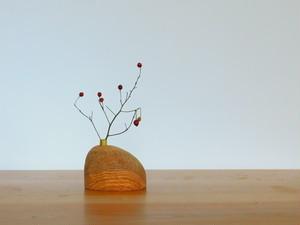 木の一輪挿し 櫟 N-2