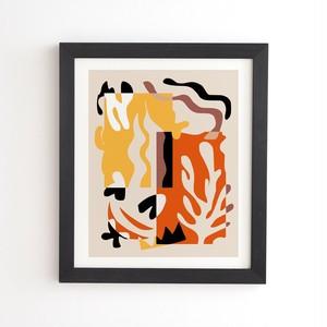 フレーム入りアートプリント    STRIPE COLLAGE BY LITTLE DEAN 【受注生産品: 7月中旬入荷分 オーダー受付中】