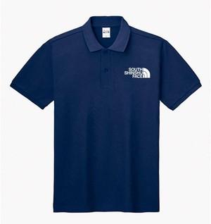 SOUTH SHINSHU FACE ポロシャツ ネイビー
