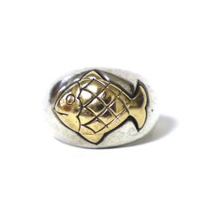 Hermès Vintage Sterling Silver & 18k Gold Fish Ring