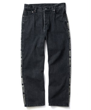 BLACK EYE PATCH / HANDLE WITH CARE DENIM PANTS