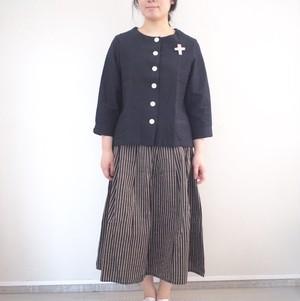 YAMMA 会津木綿ノーカラージャケット  ASP-JK ヤンマ産業