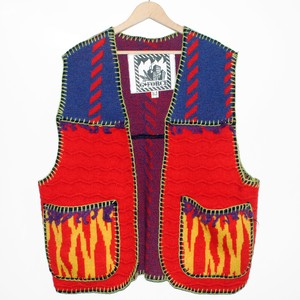『G-FORCE』 90s vintage panel knitted Vest